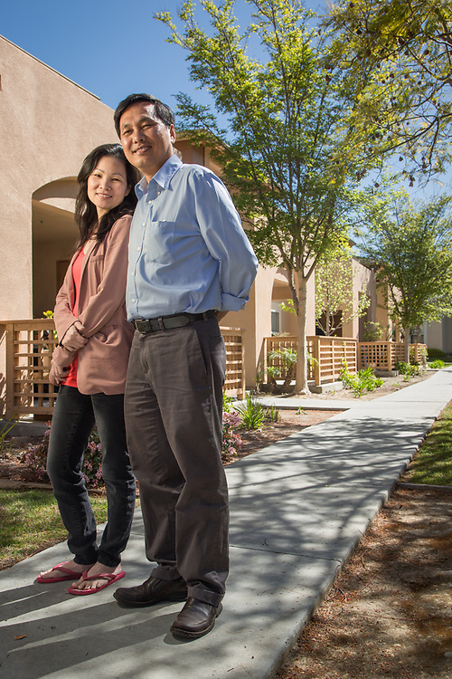 Residents Hieu Luu and Natalie Nguyen at Torrey del Mar, San Diego, CA for Bridge Housing
