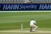 17th December 2018, Optus Stadium, Perth, Australia; International Test Series Cricket, Australia versus India, second test, day 4; Usman Khawaja of Australia ducks under a short ball during Australias second innings