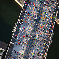 Aerial view of Mercedes Benz Corporate Run 2013 in downtown Miami.