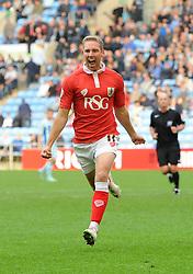 Bristol City's Scott Wagstaff celebrates his goal  - Photo mandatory by-line: Joe Meredith/JMP - Mobile: 07966 386802 - 18/10/2014 - SPORT - Football - Coventry - Ricoh Arena - Bristol City v Coventry City - Sky Bet League One