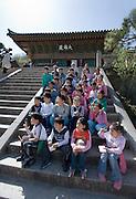Beomeosa Temple. Visiting school class.