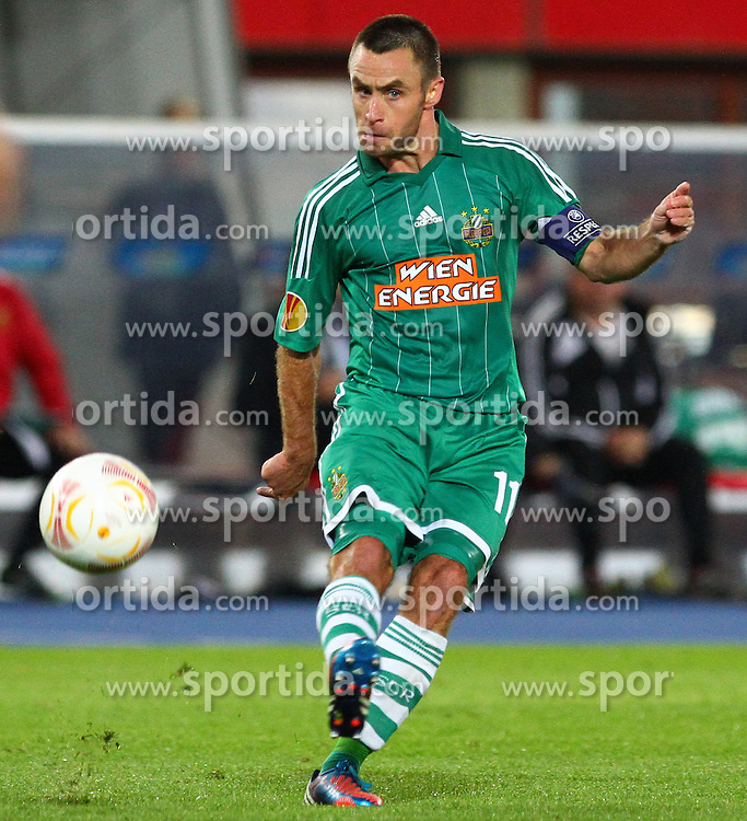 20.09.2012, Ernst Happel Stadion, Wien, AUT, UEFA Europa League, SK Rapid Wien vs Rosenborg Trondheim, Gruppe K, im Bild Steffen Hofmann, (SK Rapid Wien, #11)  // during the UEFA Europa League group K match between SK Rapid Vienna and Rosenborg Trondheim at the Ernst Happel Stadion, Vienna, Austria on 2012/09/20. EXPA Pictures © 2012, PhotoCredit: EXPA/ Thomas Haumer