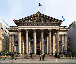 View of The Dome restaurant and bar on George Street in Edinburgh, Scotland, UK
