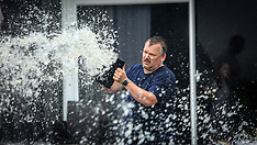 Auckland-Bucket brigade save Mission Bay flooding