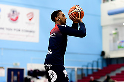 Gentry Thomas of Bristol Flyers warms up prior to tip off - Photo mandatory by-line: Ryan Hiscott/JMP - 06/12/2019 - BASKETBALL - SGS Wise Arena - Bristol, England - Bristol Flyers v Sheffield Sharks - British Basketball League Championship