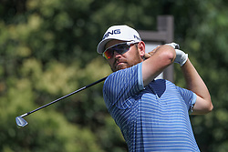 May 26, 2018 - Fort Worth, TX, U.S. - FORT WORTH, TX - MAY 26: Louis Oosthuizen (RSA) hits from the 9th tee during the third round of the Fort Worth Invitational on May 26, 2018 at Colonial Country Club in Fort Worth, TX. (Photo by George Walker/Icon Sportswire) (Credit Image: © George Walker/Icon SMI via ZUMA Press)