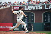 San Francisco Giants starting pitcher Madison Bumgarner (40) pitches against the St. Louis Cardinals at AT&T Park in San Francisco, California, on September 3, 2017. (Stan Olszewski/Special to S.F. Examiner)