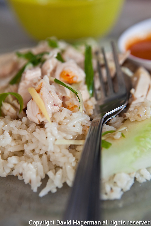 hainan style chicken and rice, george town, penang, malaysia