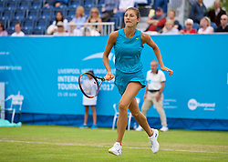 LIVERPOOL, ENGLAND - Friday, June 16, 2017: Corinna Dentoni (ITA) during Day Two of the Liverpool Hope University International Tennis Tournament 2017 at the Liverpool Cricket Club. (Pic by David Rawcliffe/Propaganda)
