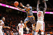 KNOXVILLE,TN - JANUARY 06, 2016 -  Guard Kevin Punter #0 of the Tennessee Volunteers during the game between the Florida Gators and the Tennessee Volunteers at Thompson-Boling Arena in Knoxville, TN. Photo By Craig Bisacre/Tennessee Athletics