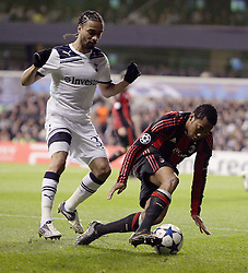 09.03.2011, White Hart Lane, London, ENG, UEFA CL, Tottenham Hfc vs AC Milan, im Bild Tottenham's Benoit Assou-Ekotto and AC Milan's Robinho   during Tottenham Hfc vs AC Milan for the last 16 round of the UCL at White Hart Lane   in London on 09/03/2011. EXPA Pictures © 2011, PhotoCredit: EXPA/ IPS/ Marcello Pozzetti +++++ ATTENTION - OUT OF ENGLAND/UK and FRANCE/FR +++++