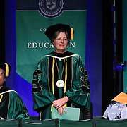 Wilmington University Board of Trustees The Honorable Sue L. Robinson stands in recognition during Wilmington University commencement exercise Sunday, May 17, 2015, at Chase Center On The Riverfront in Wilmington Delaware.