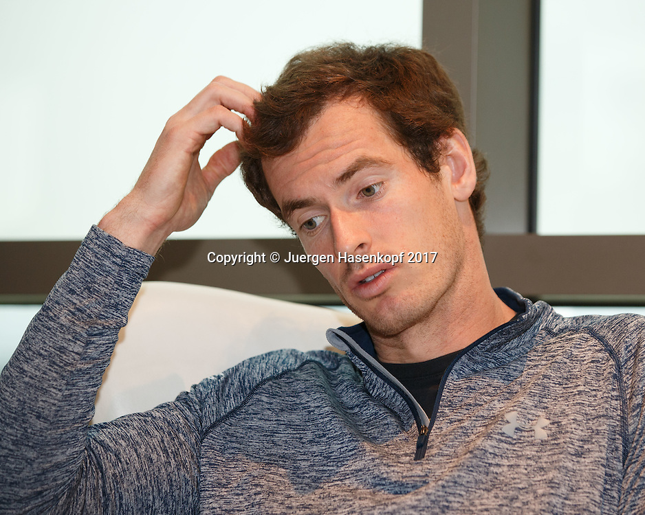 ANDY MURRAY (GBR), Pressekonferenz<br /> <br /> Tennis - Dubai Tennis Championships 2017 - ATP -  Dubai Duty Free Tennis Stadium - Dubai  -  - United Arab Emirates  - 26 February 2017.