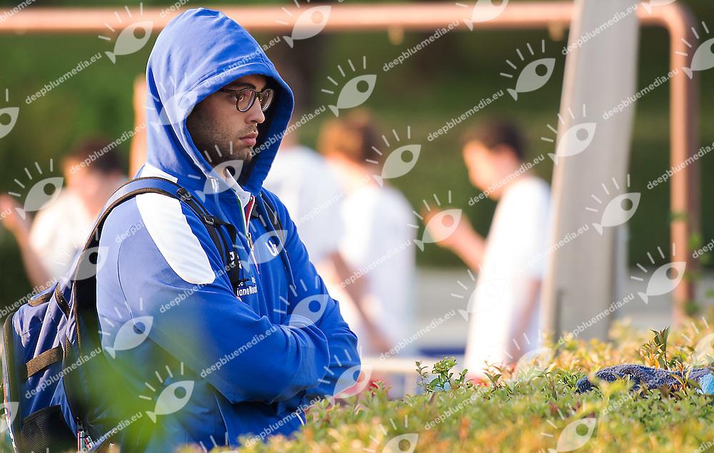 Tommaso Busilacchi ITA<br /> Serbia SRB (white) - Italy ITA (blue)<br /> day 02 - 24/06/2015<br /> FINA Water Polo World League Superfinal Men<br /> Bergamo (ITA) 23-28 June 2015<br /> Photo G.Scala/Deepbluemedia