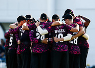 Somerset huddle before the start<br /> <br /> Photographer Simon King/Replay Images<br /> <br /> Vitality Blast T20 - Round 1 - Glamorgan v Somerset - Thursday 18th July 2019 - Sophia Gardens - Cardiff<br /> <br /> World Copyright © Replay Images . All rights reserved. info@replayimages.co.uk - http://replayimages.co.uk