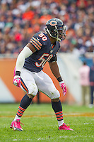 06 October 2013: Linebacker (50) James Anderson of the Chicago Bears in game action against the New Orleans Saints during the second half of the Saints 26-18 victory over the Bears in an NFL Game at Soldier Field in Chicago, IL.