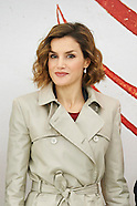 1103015 Queen Letizia attends a meeting at National Library