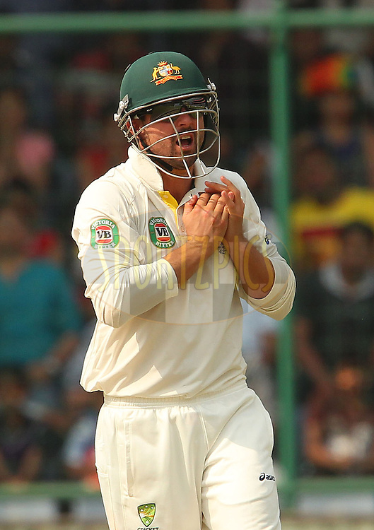 Ed Cowan of Australia during day 3 of the 4th Test Match between India and Australia held at the Feroz Shah Kotla stadium in Delhi on the 24th March 2013..Photo by Ron Gaunt/BCCI/SPORTZPICS ..Use of this image is subject to the terms and conditions as outlined by the BCCI. These terms can be found by following this link:..http://www.sportzpics.co.za/image/I0000SoRagM2cIEc