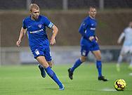 Frederik Vincent (Skovshoved IF) under kampen i 2. Division mellem FC Helsingør og Skovshoved IF den 11. oktober 2019 på Helsingør Ny Stadion (Foto: Claus Birch).