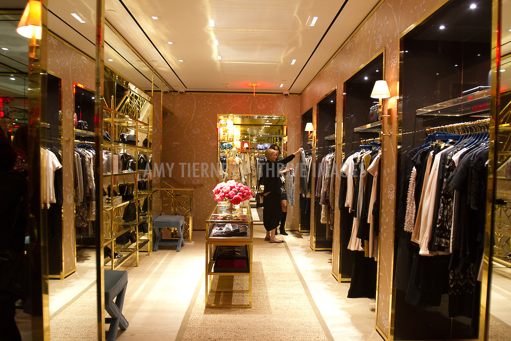 atmosphere Tory Burch store Beverly Hills