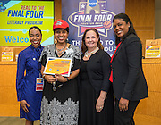 Tinsley Elementary School is recognized during the reveal of the 32 finalists in the Houston ISD NCAA Read to the Final Four, November 11, 2015.