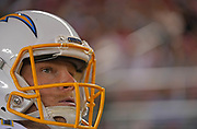 Log Angeles Chargers punter Ty Long (1) during an NFL football game, Thursday, Aug. 29, 2019, in Santa Clara, Calif. (Dylan Stewart/Image of Sport)