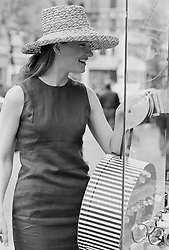 Woman enjoying herself while shopping