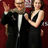 HONG KONG - MARCH 22:  Chinese actress Zhu Xuan and Hong Kong director Yon Fan pose at the red carpet for the 4th Asian Film Awards ceremony at the Convention and Exhibition Centre on March 22, 2010 in Hong Kong.  Photo by Victor Fraile / studioEAST
