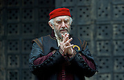 The Merchant of Venice <br /> by William Shakespeare <br /> at The Globe Theatre, London, Great Britain <br /> 25th April 2015 <br /> <br /> Jonathan Pryce as Shylock <br /> <br /> <br /> <br /> Photograph by Elliott Franks <br /> Image licensed to Elliott Franks Photography Services
