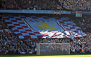 The Holte End show their support for Aston Villa during the Barclays Premier League match between Aston Villa and Chelsea at Villa Park on February 21, 2009 in Birmingham, England.
