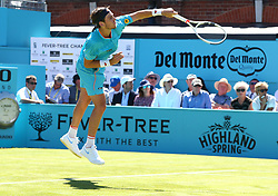 June 18, 2018 - London, England, United Kingdom - Cameron Norrie (GBR) in action.during Fever-Tree Championships 1st Round match between Cameron Norrie (GBR) against Stan Wawrinka (SUI)  at The Queen's Club, London, on 18 June 2018  (Credit Image: © Kieran Galvin/NurPhoto via ZUMA Press)