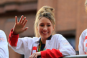 Jade Jones during the Manchester Olympic Parade in Manchester, United Kingdom on 17 October 2016. Photo by Richard Holmes.
