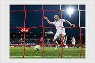 Teemu Pukki scores 1-0 goal. Liechtenstein - Finland. Vaduz, June 11, 2019.