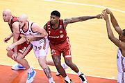Peric Hrvoje Upshaw Reggie Jones DeQuan<br /> Grissin Bon Reggio Emilia - Allianz Pallacanestro Trieste<br /> Lega Basket Serie A 2019/2020<br /> Pesaro, 15/12/2019<br /> Foto A.Giberti / Ciamillo - Castoria
