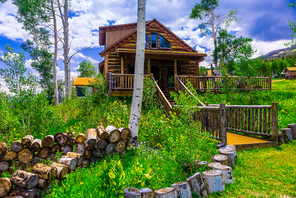 Lynn Britt Cabin, Snowmass Village (Aspen), Colorado USA.