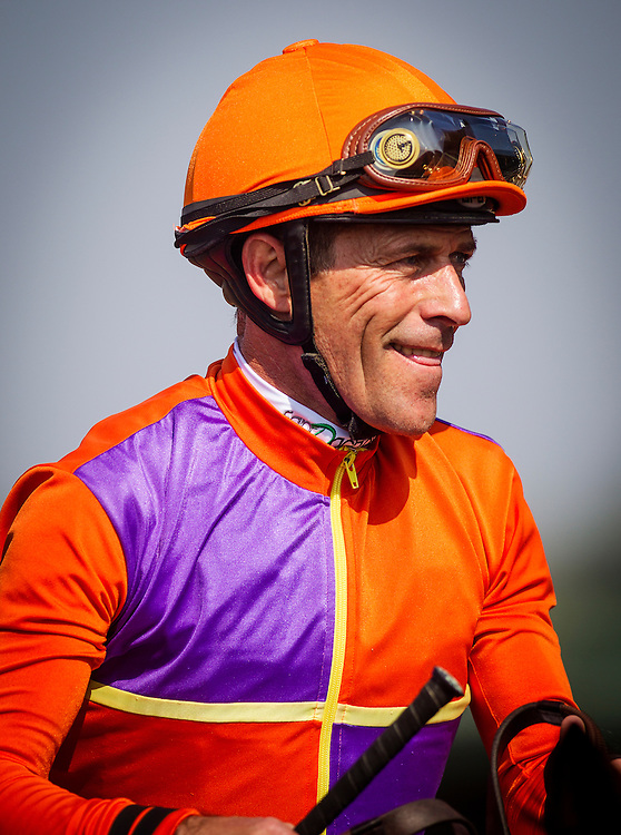 June 13, 2015: Jockey, Gary Stevens at Santa Anita Park in Arcadia CA. Alex Evers/ESW/CSM