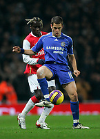 Photo: Tom Dulat/Sportsbeat Images.<br /> <br /> Arsenal v Chelsea. The FA Barclays Premiership. 16/12/2007.<br /> <br /> Bacary Sagna of Arsenal and Joe Cole of Chelsea with the ball.