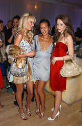 Left to right, KIMBERLEY STEWART daughter of Rod Stewart, JADE JAGGER and CAMILLA AL FAYED at party in aid of cancer charity Clic Sargent held at the Sanderson Hotel, Berners Street, London on 4th July 2005.<br /><br />NON EXCLUSIVE - WORLD RIGHTS