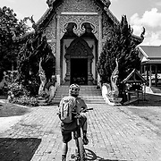 Andrew Whiteford checks out a temple in the jungle near Chiang Mai, Thailand.