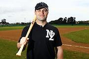 Aaron Campbell, New Zealand Baseball team headshots, portraits and team photo sesison. Howick-Pakuranga Baseball Grounds, Lloyd Elsmore Park, Auckland. 2 November 2012. Photo: William Booth/photosport.co.nz