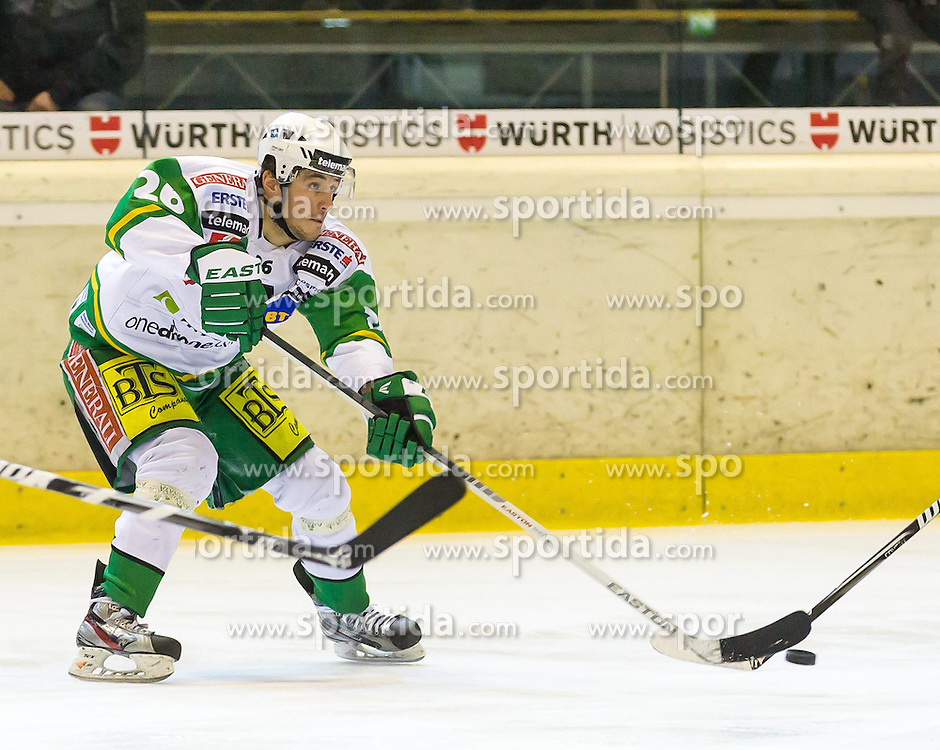 11.01.2013, Messestadion, Dornbirn, AUT, EBEL, Dornbirner EC vs HDD Olimpija Ljubljana, 41. Runde, im Bild Jaka Ankerst, (HDD Olimpija Ljubljana, #26)// during the Erste Bank Icehockey League 41th round match between Dornbirner EC and HDD Olimpija Ljubljana the Exhibition Stadium, Dornbirn, Austria on 2013/01/13, EXPA Pictures © 2013, PhotoCredit: EXPA/ Peter Rinderer