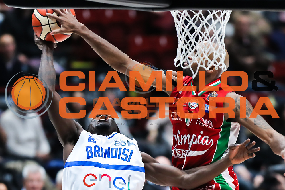 Scott Durand, EA7 Emporio Armani Milano vs Enel Basket Brindisi, LBA serie A 12^ giornata stagione 2016/2017, Mediolanum Forum Milano 18 dicembre 2016