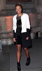Emeli Sandé arriving at a reception for the  British Asian Trust at the Victoria and Albert Museum in London, Wednesday, 5th February 2014. Picture by Stephen Lock / i-Images