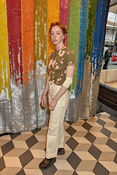 Lily Newmark at a cocktail supper hosted by BOTTLETOP co-founders Cameron Saul & Oliver Wayman, along with Arizona Muse, Richard Curtis & Livia Firth to launch the #TOGETHERBAND campaign at The Quadrant Arcade on April 24, 2019 in London, England.<br /> <br /> ***For fees please contact us prior to publication***