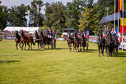 DodderBronze medal, Team France, Allaud Benjamin, Doudry Thibault, Horde Anthony<br /> Prizegiving FEI rider of the year<br /> Driving European Championship <br /> Donaueschingen 2019<br /> © Hippo Foto - Dirk Caremans<br /> Bronze medal, Team France, Allaud Benjamin, Doudry Thibault, Horde Anthony