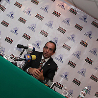 TOLUCA, México.- Edgar Cerecero López, presidente de COPARMEX, en el Valle de Toluca, en conferencia de prensa señalo que un 7 por ciento de las empresas afiliadas a esta agrupación han manifestado que no pagaran el aguinaldo en tiempo y forma, como lo establece la ley del trabajo, debido a la falta de liquides. Agencia MVT / José Hernández. (DIGITAL)