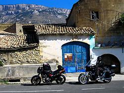 SPAIN CATALUNYA PYRENEES SEP07 - Honda Hornet 900 and Moto Guzzi California near Abella de la Conca, Pyrenees mountains, Spain...jre/Photo by Jiri Rezac..© Jiri Rezac 2007..Contact: +44 (0) 7050 110 417.Mobile:  +44 (0) 7801 337 683.Office:  +44 (0) 20 8968 9635..Email:   jiri@jirirezac.com.Web:    www.jirirezac.com..© All images Jiri Rezac 2007 - All rights reserved.
