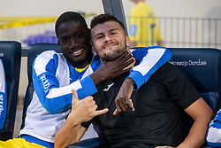 Shamar Nicholson and Ajdin Mulalic of NK Domzale during 2nd Leg Football match between NK Domzale and FC Balzan  in First Qualifying match of UEFA Europa League 2019/2020, on July 18, 2019 in Sports park Domzale, Domzale, Slovenia. Photo by Ziga Zupan / Sportida