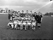 09/04/1956<br /> 04/09/1956<br /> 09 April 1956<br />  Soccer Interprovincial Schoolboys: Leinster v Ulster at Whitehall, Dublin. The Munster team.
