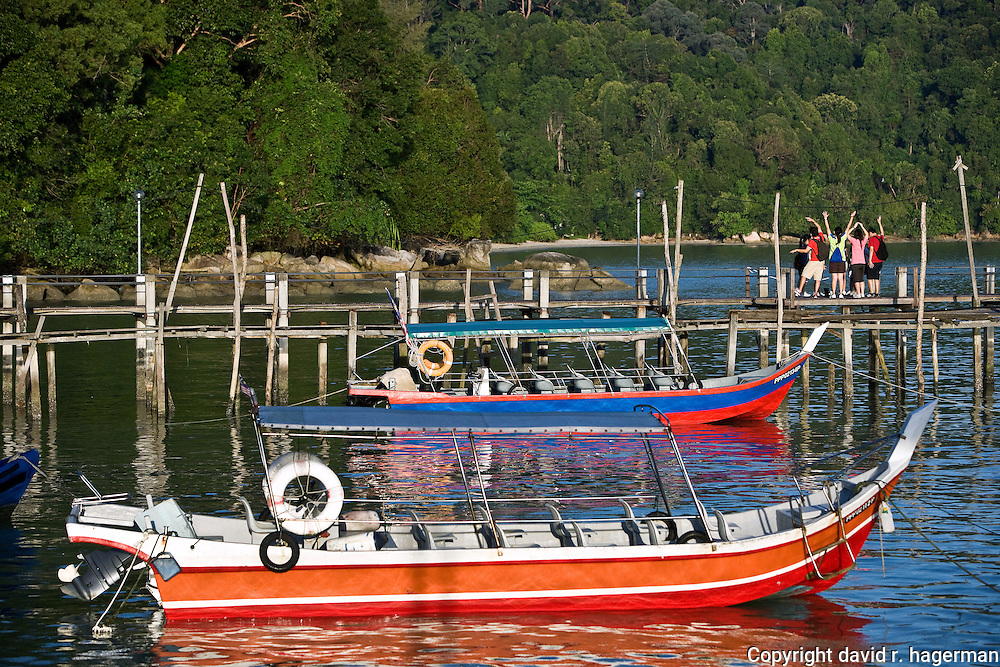 the jetty at Telok Pahang. boats take visitors from here to Monkey Beach